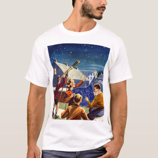 Retro Vintage Kitsch Sci Fi 40s Kids Telescope T-Shirt