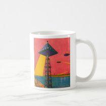 Retro Vintage Kitsch Sci Fi Canals of Mars Coffee Mug