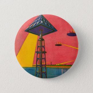 Retro Vintage Kitsch Sci Fi Canals of Mars Pinback Button