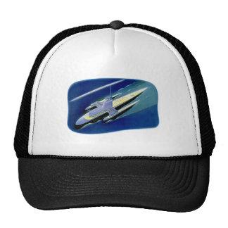 Retro Vintage Kitsch Sci Fi Future Ocean Liner Trucker Hat