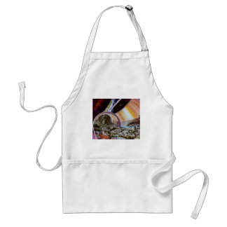 Retro Vintage Kitsch Sci Fi Future Space Colonies Adult Apron