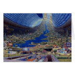 Retro Vintage Kitsch Sci Fi Future Space Colonies Cards
