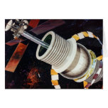 Retro Vintage Kitsch Sci Fi Future Space Colonies Greeting Cards