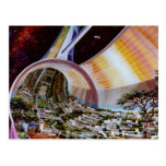 Retro Vintage Kitsch Sci Fi Future Space Colonies Post Cards