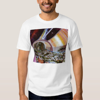 Retro Vintage Kitsch Sci Fi Future Space Colonies T Shirt