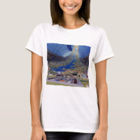Retro Vintage Kitsch Sci Fi Future Space Colonies T-Shirt