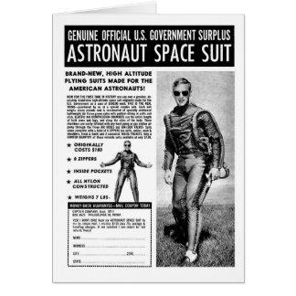 Retro Vintage Kitsch Sci Fi Own a Astronaut Suit Card