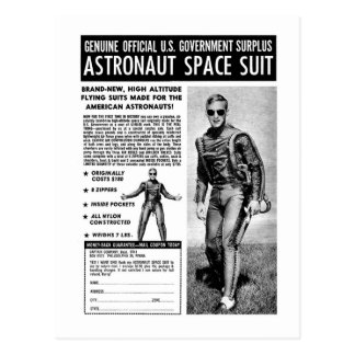 Retro Vintage Kitsch Sci Fi Own a Astronaut Suit Postcard