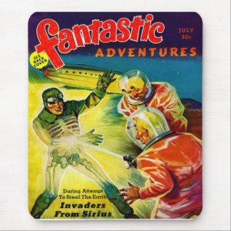 Retro Vintage Kitsch Sci Fi Pulp Fantastic Mag Mouse Pad