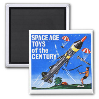 Retro Vintage Kitsch Sci Fi Space Age Toys Mach-X 2 Inch Square Magnet