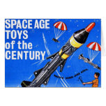 Retro Vintage Kitsch Sci Fi Space Age Toys Mach-X Greeting Cards