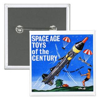 Retro Vintage Kitsch Sci Fi Space Age Toys Mach-X Pinback Button