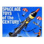 Retro Vintage Kitsch Sci Fi Space Age Toys Mach-X Post Card