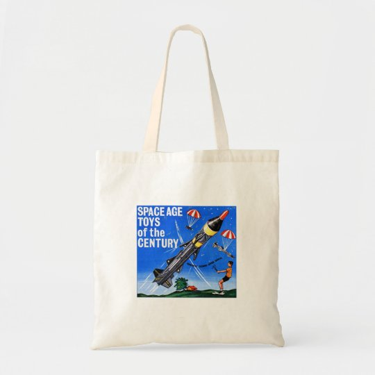 Retro Vintage Kitsch Sci Fi Space Age Toys Mach-X Tote Bag