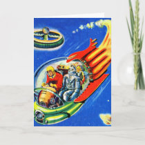 Retro Vintage Kitsch Sci Fi Space Travel Spaceship