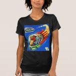 Retro Vintage Kitsch Sci Fi Space Travel Spaceship Tee Shirts