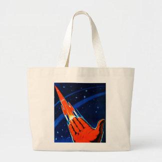 Retro Vintage Kitsch Sci Fi USSR Soviet Space Canvas Bag
