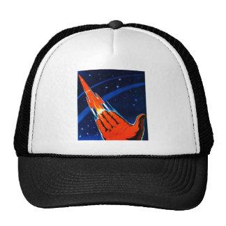 Retro Vintage Kitsch Sci Fi USSR Soviet Space Trucker Hat