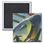 Retro Vintage Kitsch Sci Fi WWI Super Tank Refrigerator Magnet