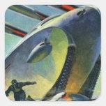 Retro Vintage Kitsch Sci Fi WWI Super Tank Stickers