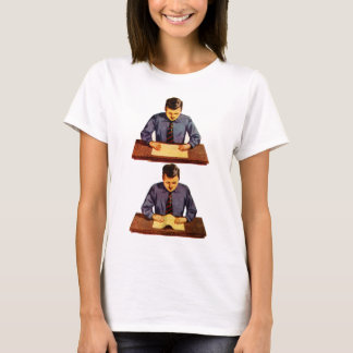 Retro Vintage Kitsch Scientist Kid Science Project T-Shirt