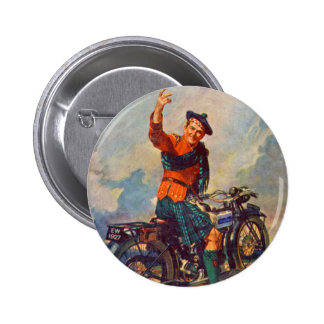 Retro Vintage Kitsch Scot Douglas Motorcycle Ad 2 Inch Round Button