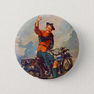 Retro Vintage Kitsch Scot Douglas Motorcycle Ad Button