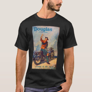 Retro Vintage Kitsch Scot Douglas Motorcycle Ad T-Shirt