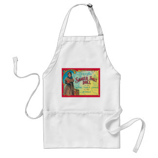 Retro Vintage Kitsch Shaker Salt Doll Advert Adult Apron