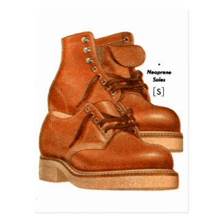 Retro Vintage Kitsch Shoes Men's Boots Neoprene Postcard
