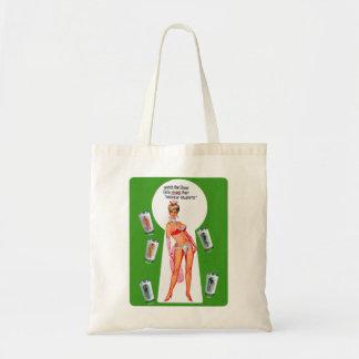Retro Vintage Kitsch Showgirl Peekaboo Pin Up Tote Bag