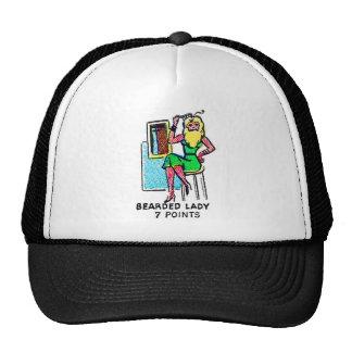 Retro Vintage Kitsch Sideshow 'Bearded Lady' Trucker Hat