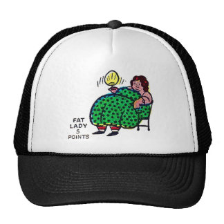 Retro Vintage Kitsch Sideshow Character 'Fat Lady' Trucker Hat