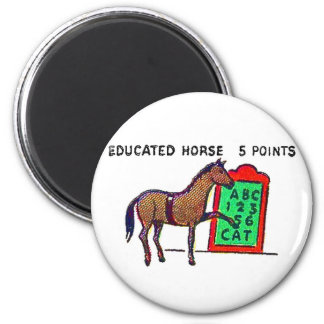 Retro Vintage Kitsch Sideshow 'Educated Horse' Refrigerator Magnets