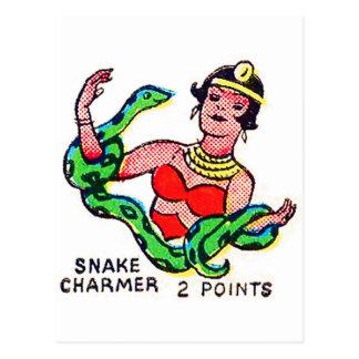 Retro Vintage Kitsch Sideshow 'Snake Charmer' Post Cards
