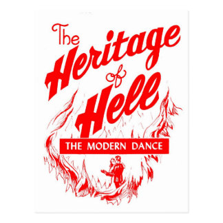 Retro Vintage Kitsch Sin Heritage of Hell - Dance Post Cards
