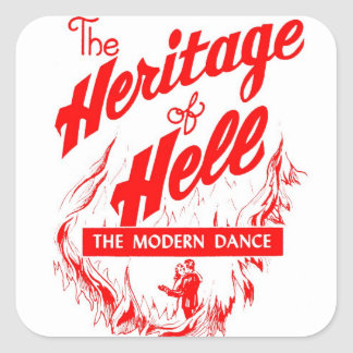 Retro Vintage Kitsch Sin Heritage of Hell - Dance Square Sticker
