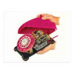 Retro Vintage Kitsch Sixties Telephone Phone Guts Postcards