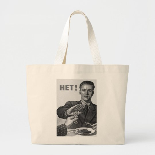 Retro Vintage Kitsch Social Propoganda Het Vodka Large Tote Bag