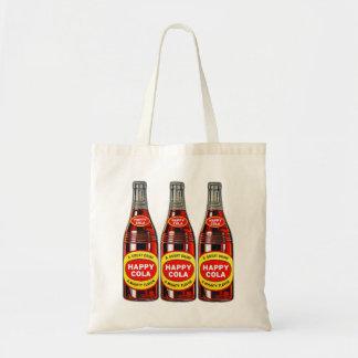 Retro Vintage Kitsch Soda Happy Cola Bottles Tote Bag