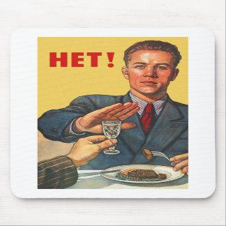 Retro Vintage Kitsch Soviet Propaganda Het Vodka Mouse Pads
