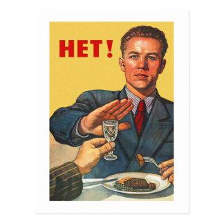 Retro Vintage Kitsch Soviet Propaganda Het Vodka Postcard