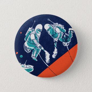 Retro Vintage Kitsch Space Astronaut Space Walking Button