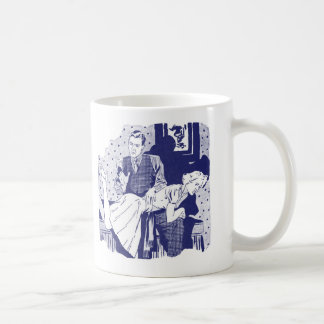 Retro Vintage Kitsch Spanking the Wife Coffee Mug