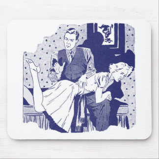 Retro Vintage Kitsch Spanking the Wife Mouse Pads