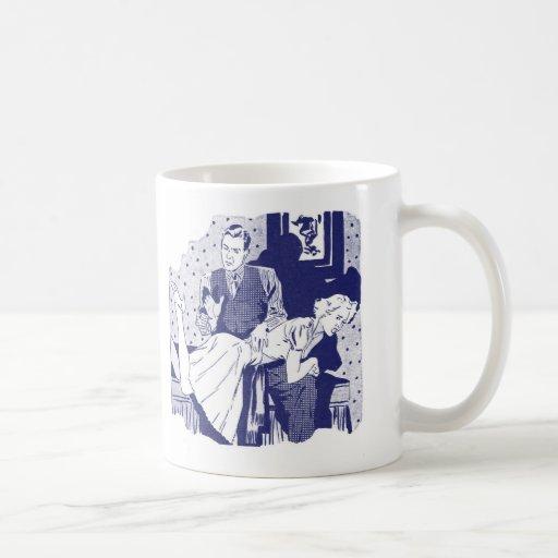 Retro Vintage Kitsch Spanking the Wife Mugs