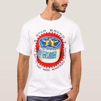 Retro Vintage Kitsch Star Brand Butter T-Shirt