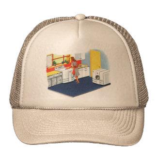Retro Vintage Kitsch Suburbs 50s Washer & Dryer Trucker Hat