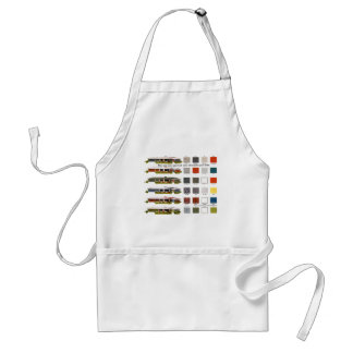 Retro Vintage Kitsch Suburbs Approved House Colors Adult Apron
