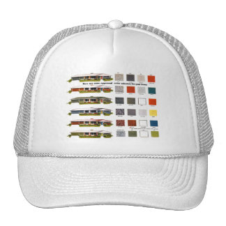 Retro Vintage Kitsch Suburbs Approved House Colors Hats